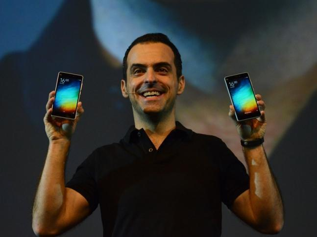Vice President of Xiaomi Global, Hugo Barra. AFP PHOTO / MONEY SHARMA